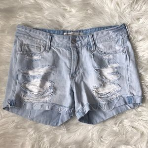 AF low rise distressed jean shorts